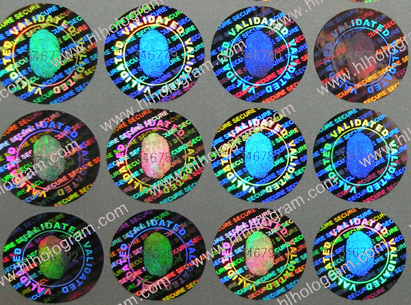 Stock hologram sticker