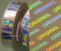 transparent hologram and sticker in roll