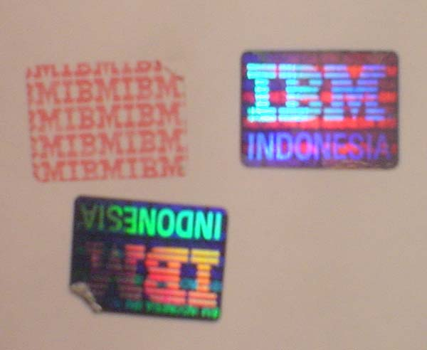 secure hologram sticker